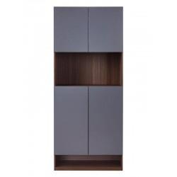 31.5吋胡桃色配鐵灰色高身儲物鞋櫃