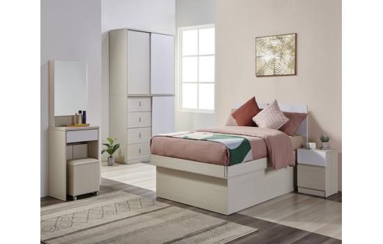 Dolce Plus 48X72 板屏儲物油壓床 -單床