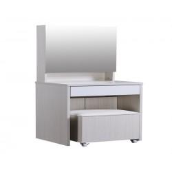 Dolce Plus 19.7寸白橡木色梳妝檯連椅