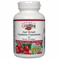CranRich Super Strength Cranberry Concentrated 500mg 90v